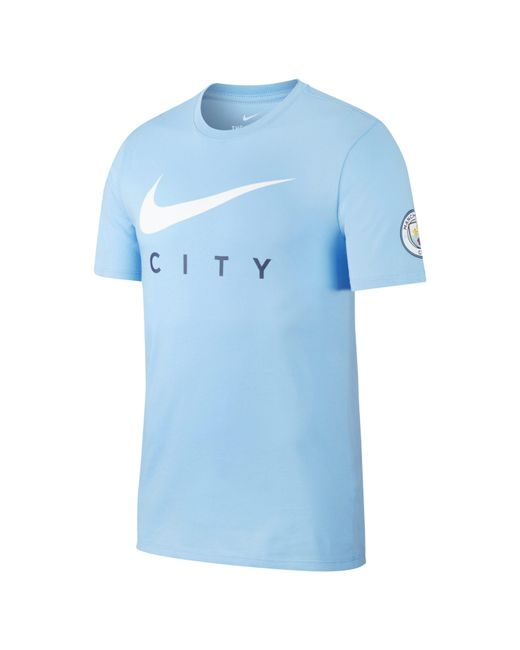 9fd368af3 Nike Manchester City T-shirt in Blue for Men - Save 21% - Lyst