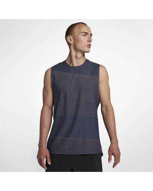 5e1e02a93b984 Lyst - Nike Breathe Men s Training Tank in Blue for Men