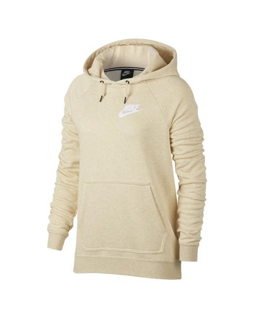 6dd16918169c Lyst - Nike Sportswear Rally Women s Hoodie in Natural