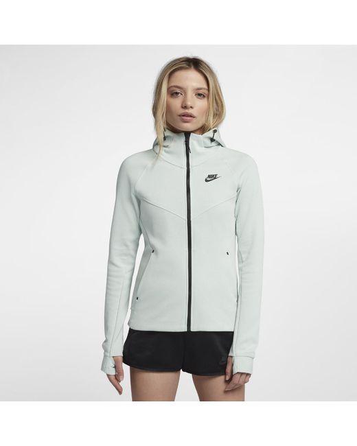637986c5731 Nike - Gray Sportswear Tech Fleece Windrunner Women s Full-zip Hoodie - Lyst