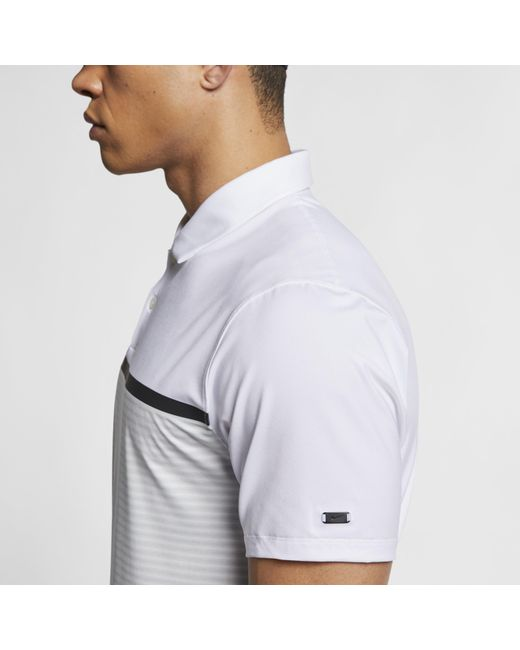 b7675cee9 ... Nike - White Golf Dri-fit Short-sleeve Tw Vapor Colorblock Polo for Men  ...