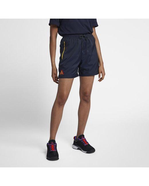 25d9fd7a44da Lyst - Nike Acg Men s Woven Shorts in Blue for Men