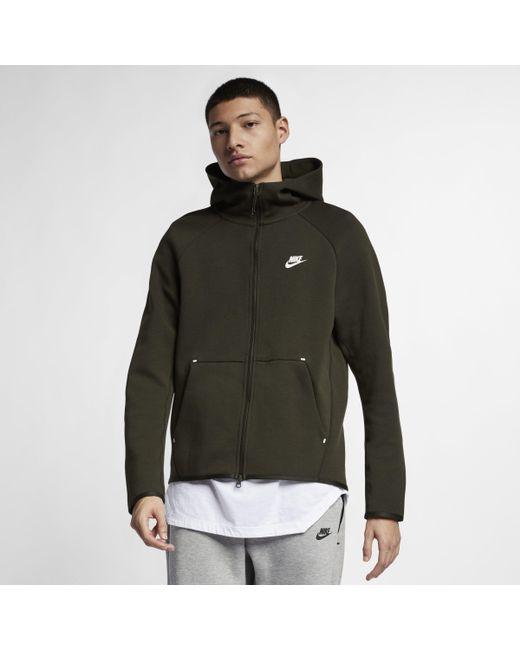 52c9462a51 Nike Sportswear Tech Fleece Full-zip Hoodie in Green for Men - Lyst