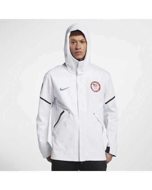 08d835ed6702 Nike - White Tech Fleece Team Usa Windrunner Men s Jacket for Men - Lyst