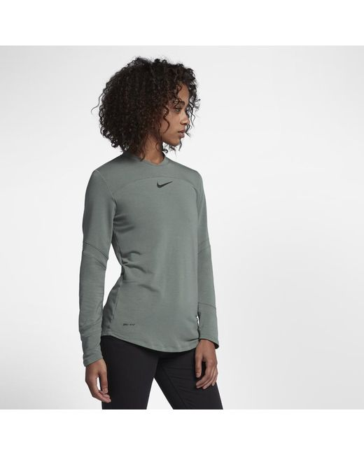 Nike - Green Dry Women's Long Sleeve Golf Top - Lyst
