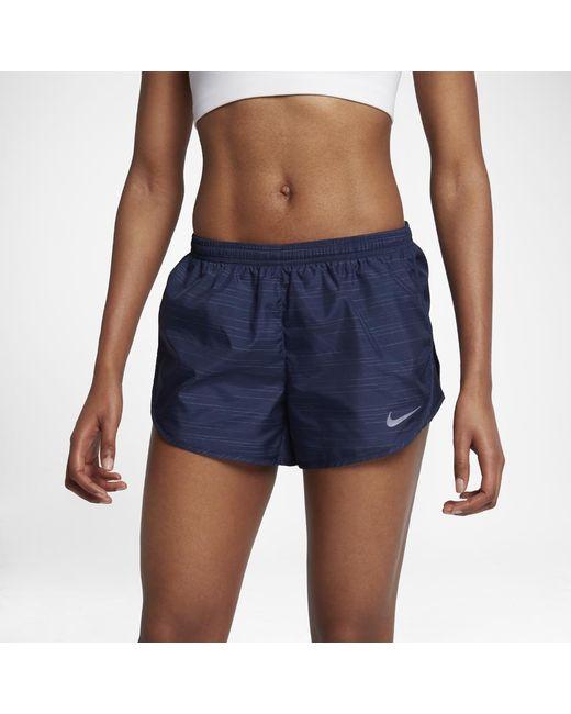"Nike   Blue Dry Modern Tempo Women's 3"" Running Shorts   Lyst"