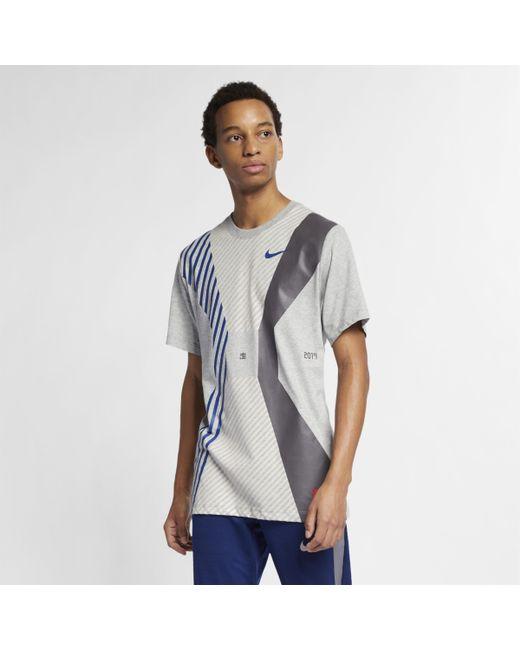 6e60e878a Nike Dri-fit Running T-shirt in Gray for Men - Lyst
