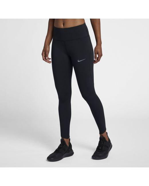 ddbe9b4f7d25a0 Nike - Black Epic Lux High-rise 7/8 Running Tights - Lyst ...