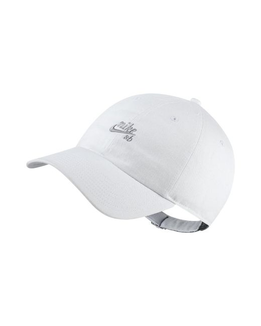 8be4ba794b1 Lyst - Nike Sb Icon H86 Adjustable Hat (white) in White for Men