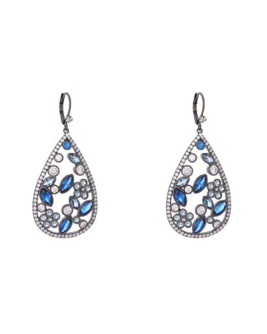 Nina Blue Matalin Earring-sapphire Ombre