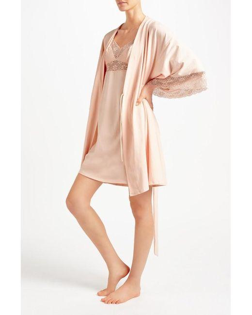 eberjey zelia kimono robe in pink lyst With zelia robe
