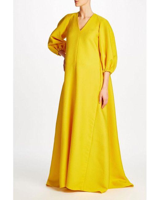 Lyst - Emilia Wickstead Octavia Gown With Hood in Metallic