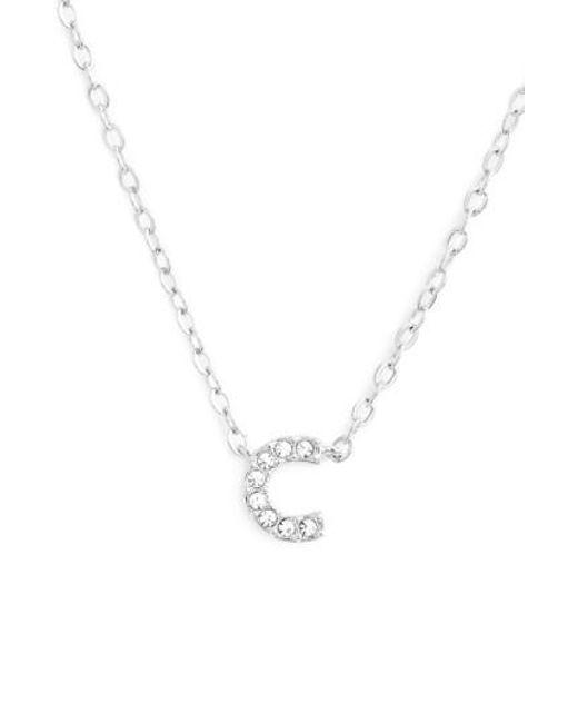Nadri | Metallic Initial Pendant Necklace | Lyst
