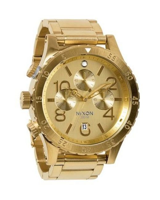 Nixon   Metallic 'the 48-20' Chronograph Watch for Men   Lyst