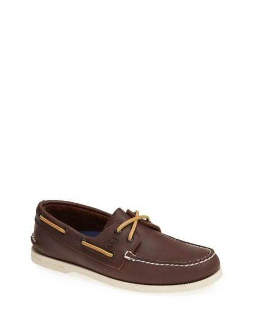 Sperry Top-Sider | Brown 'authentic Original' Boat Shoe for Men | Lyst