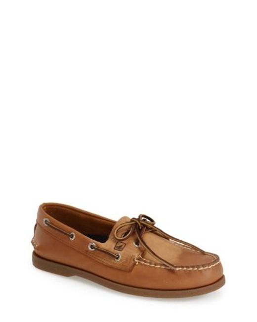 Sperry Top-Sider   Brown 'authentic Original' Boat Shoe for Men   Lyst