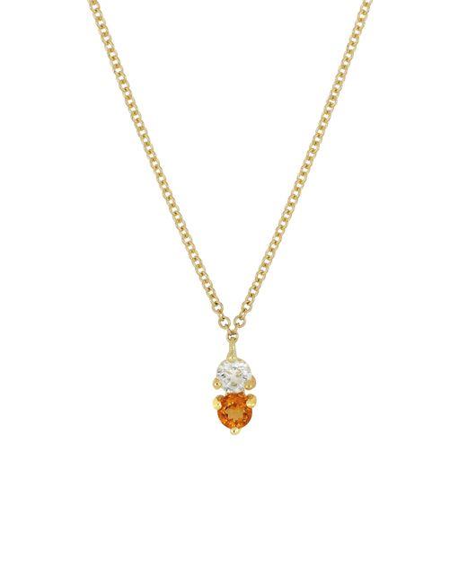 Bony Levy - Metallic Birthstone Pendant Necklace (nordstrom Exclusive) - Lyst