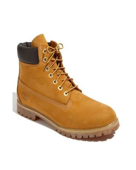 Timberland   Brown 'six Inch Classic Boots Series - Premium' Boot for Men   Lyst