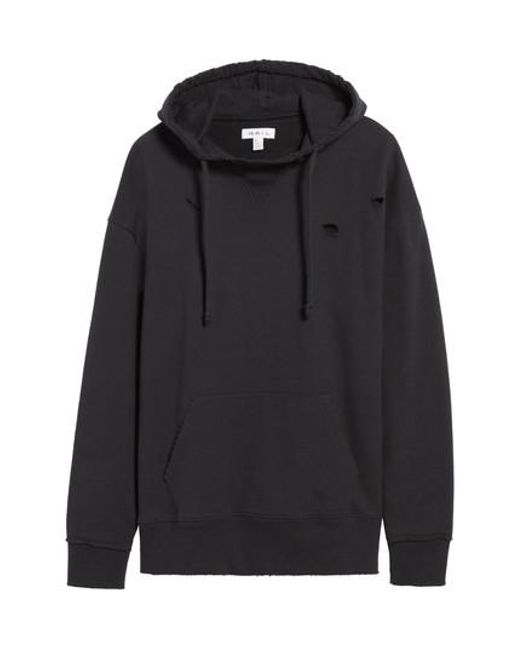 The Rail | Black Destroyed High Neck Hoodie for Men | Lyst