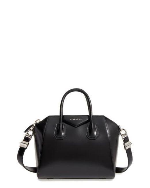 Givenchy | Black Small Antigona Box Leather Satchel | Lyst