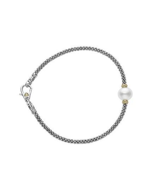 Lagos | Metallic Luna Pearl Single Station Caviar Bracelet | Lyst