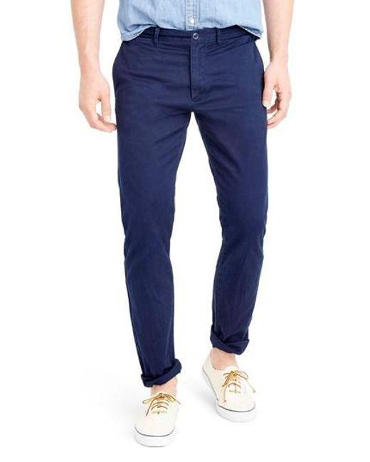 J.Crew - Blue J.crew 484 Slim Fit Stretch Chino Pants for Men - Lyst