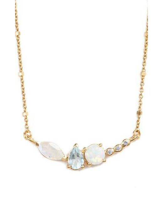 Argento Vivo - Metallic Sydney Multi Stone Bar Necklace - Lyst