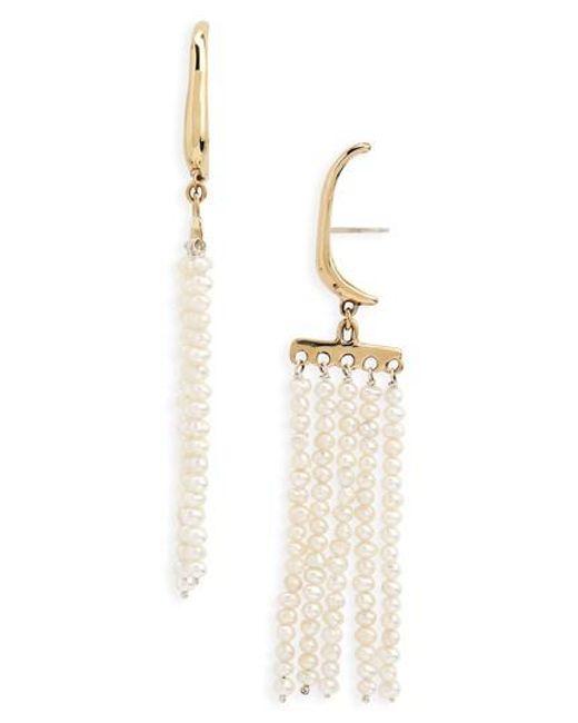 Faris - Multicolor Swing Pearl Earrings - Lyst