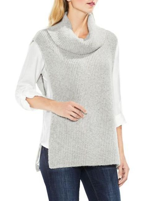 Two By Vince Camuto | Gray Sleeveless Ribbed Turtleneck | Lyst