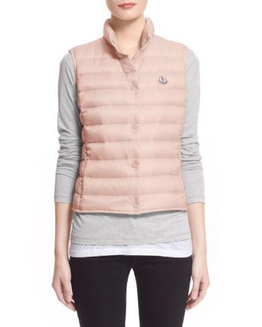 moncler vest pink