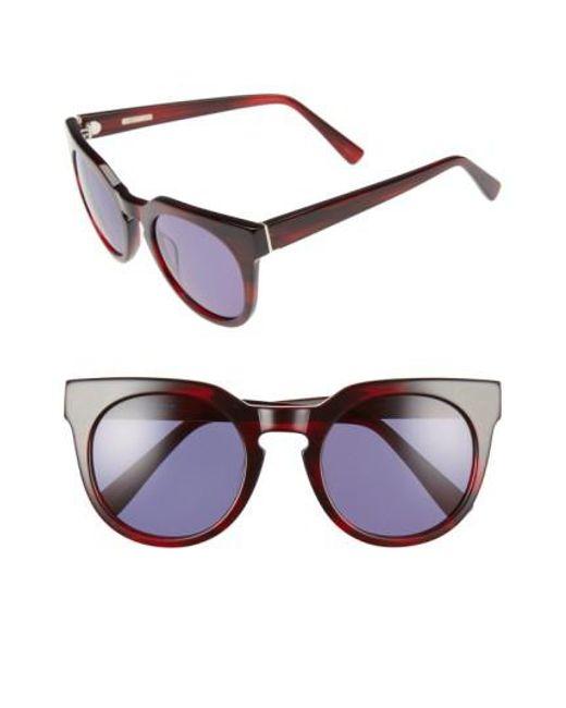 Derek Lam | Purple 'stella' 51mm Round Sunglasses | Lyst