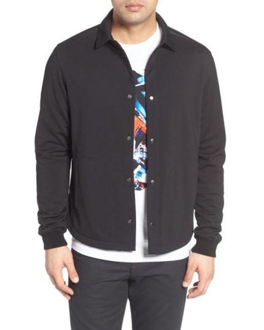 Bugatchi   Black Snap Jacket for Men   Lyst