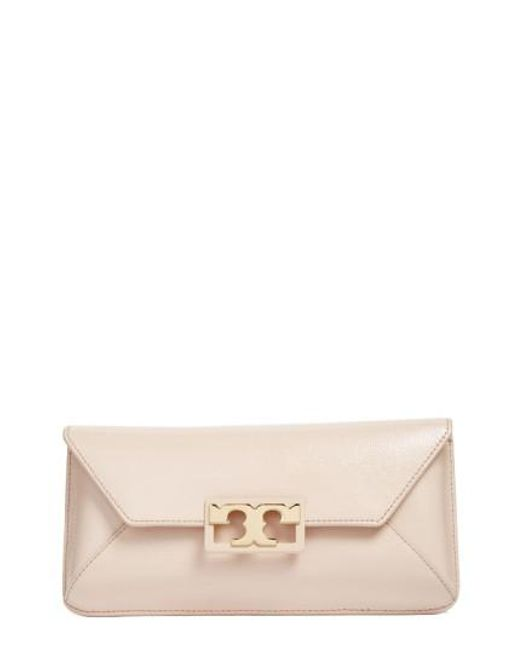 Tory Burch - Multicolor Gigi Caviar Leather Clutch - Lyst