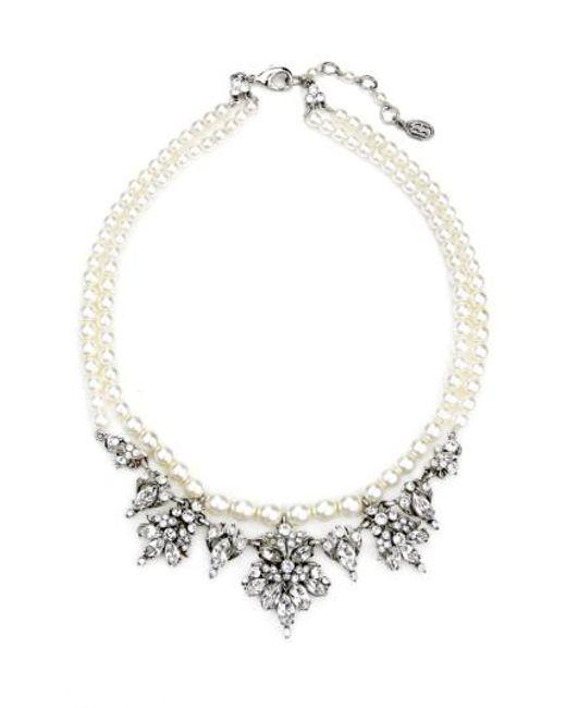 Ben-Amun | Metallic Faux Pearl & Crystal Collar Necklace | Lyst