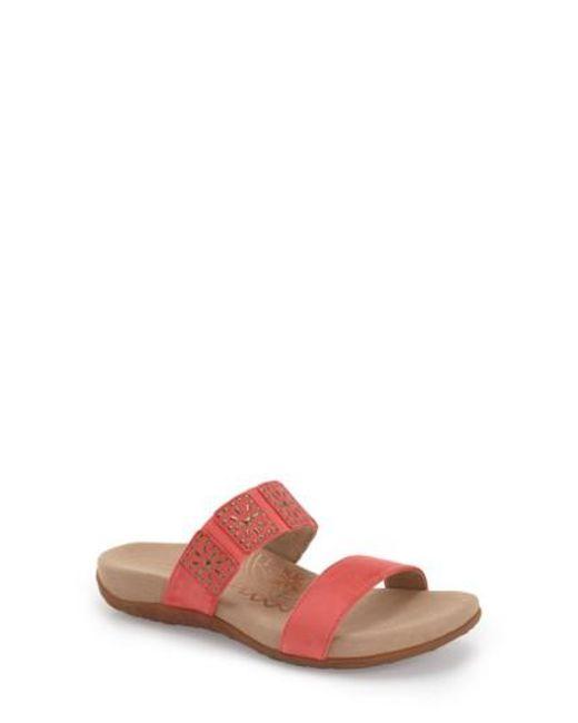 Aetrex | Pink 'macy' Double Band Slide Sandal | Lyst