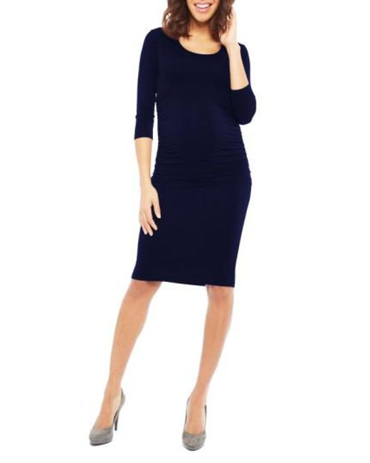 Nom Maternity - Black Nom 'ellie' Ruched Maternity Dress - Lyst