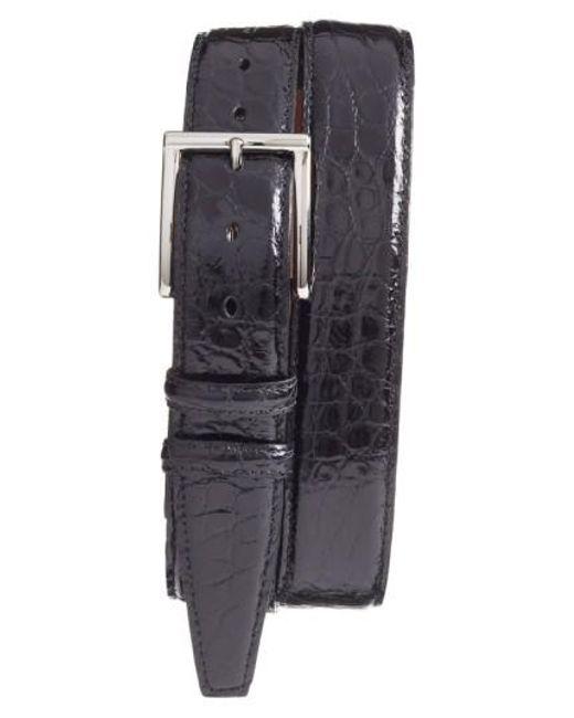 Torino Leather Company | Black Genuine American Alligator Leather Belt for Men | Lyst