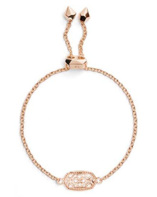 Kendra Scott | Metallic Elaina Filigree Bracelet | Lyst