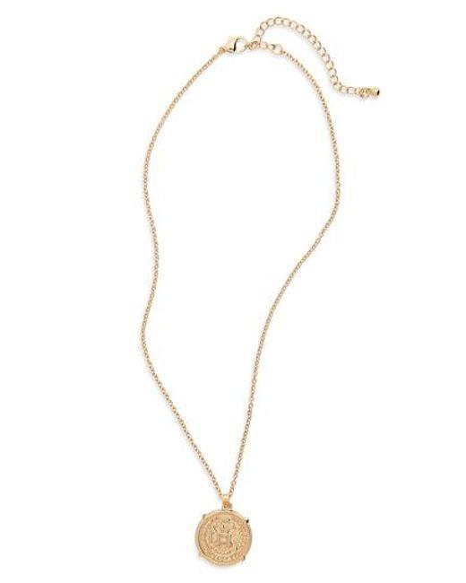 BP. - Metallic Pendant Necklace - Lyst