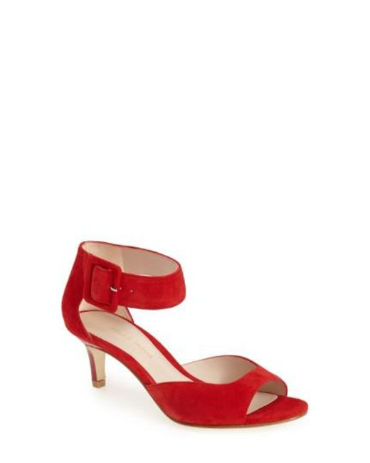 Pelle Moda - Red Ankle Strap Pump - Lyst