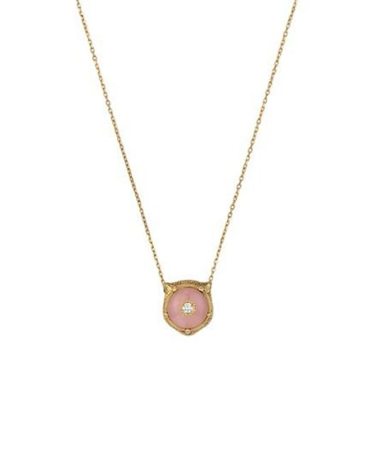 Gucci - Metallic Feline Head Pendant Necklace - Lyst