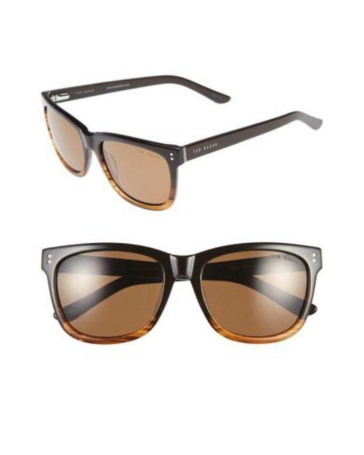 Ted Baker | Brown 56mm Polarized Retro Sunglasses for Men | Lyst