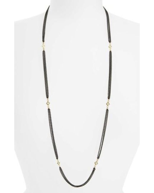 Armenta | Metallic Old World Beaded Station Necklace | Lyst
