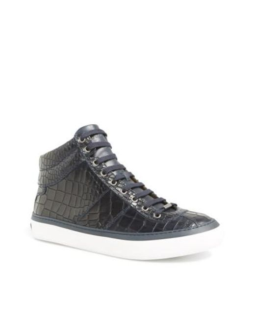Jimmy Choo   Blue Belgravia High-Top Sneakers for Men   Lyst