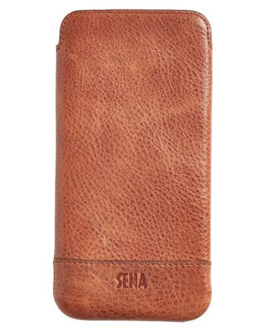 Sena - Brown Heritage - Ultra Slim Leather Iphone 6 Plus/6s Plus Pouch for Men - Lyst