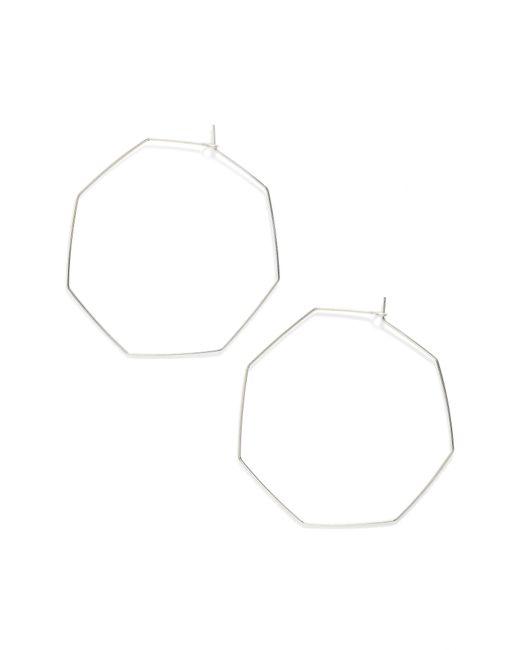 Nashelle - Metallic Octagon Hoop Earrings - Lyst