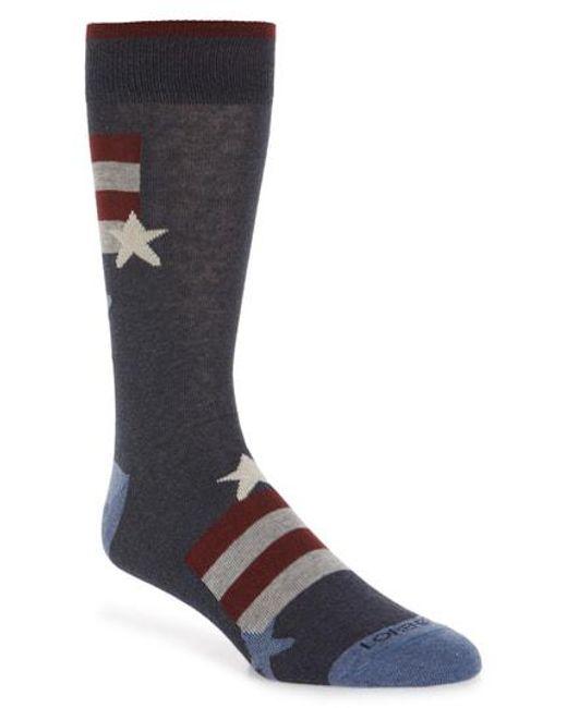 Lorenzo Uomo - Blue Stars And Stripes Socks for Men - Lyst