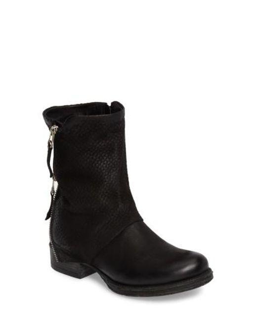 Miz Mooz | Black Nugget Asymmetrical Textured Boot | Lyst