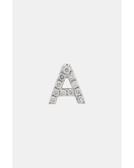 Bony Levy - White Single Initial Earring (nordstrom Exclusive) - Lyst