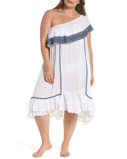 3d4ffbf4c7 Lyst - Muche Et Muchette Gavin One-shoulder Cover-up Dress in White